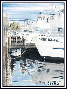 Fire Island Ferry Painting By Artist Rick Mundy Ferries Serve Cherry Grove Ocean Beach Pines And Other